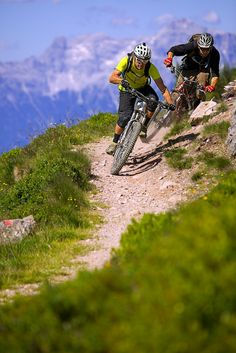 Richie Schley and Wade Simmons at Hackelbergtrail in Leogang, Austria - photo by aledilullo - Pinkbike