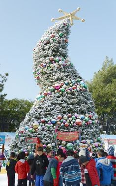 "The Dr. Seuss-themed ""Grinchmas tree"" at Universal Studios Hollywood in Universal City."