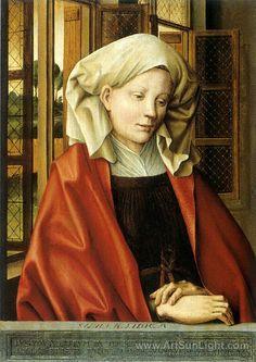 ROBERT CAMPIN (1375 - 1444)     Libyan Sibyl (Ludger tom Ring the Elder after Robert Campin ) - Munster, Landesmuseum for Kunst and Kulturgeschichte