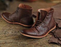 Timberland wodehouse cap toe boot brown