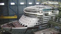 Ovation of the Seas construction at Meyer Werft Shipyard October 5 2015