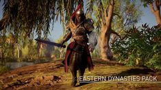 Embrace far eastern fashion with the Eastern Dynasties Gear Pack.  This pack unlocks the Celestial Raiment outfit, a sword, a shield, dual wielding blades, and a warrior bow.  #AssassinsCreedUniverse #AssassinsMarket #GeekVerse #assassinscreed #assassins  #assassin #ac #assassinscreeed2 #assassinscreedbrotherhood #assassinscreedrevelations #assassinscreed3 #assassinscreedblackflag #assassinscreedrogue #assassinscreedunity #assassinscreedsyndicate #altairibnlaahad #ezioauditore #connorkenway…