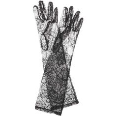 Dolce & Gabbana Lace Gloves ($485) ❤ liked on Polyvore featuring accessories, gloves, black and lace gloves