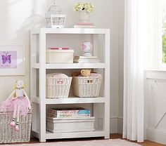 Make sure the playroom is kid friendly and is furnished for all the activities and play. Shop Pottery Barn Kids' playroom furniture including tables, lounge chairs, and more. Nursery Armoire, Baby Nursery Closet, Baby Nursery Furniture, Playroom Furniture, Furniture Sale, Nursery Ideas, Baby Room, Bedroom Ideas, Pottery Barn Bookcase