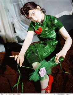 All time favorite photo of Bjork. And I've wanted that dress for a decade!