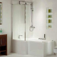 Shower Screens For Corner Baths volente folding glass bath shower screen open   bathroom