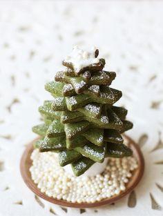 green tea biscuits christmas tree