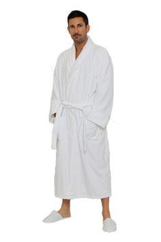 7ac2b5badf Velour Shawl Robe. 100% Cotton Terry Cloth Inside  amp  Terry Velour  Outside.