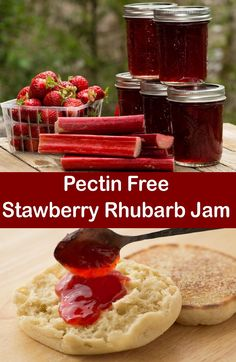 Rhubarb Jam Strawberry Rhubarb Jam Recipe – Incredible Flavor, And No Pectin Required!Strawberry Rhubarb Jam Recipe – Incredible Flavor, And No Pectin Required! Rhubarb Freezer Jam, Rhubarb Jelly, Strawberry Rhubarb Jam, Freezer Jam Recipes, Strawberry Jam Recipe, Jelly Recipes, Rhubarb Jam Recipes Canning, Rhubarb Preserves, Sauce Pizza