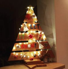 Wooden christmas tree 2015 handmade