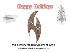 Mid Century Modern Ornament 8399 by FredArndtArtworks on Etsy, $14.95