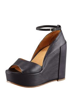 Ankle-Wrap Platform Wedge by Chloe at Bergdorf Goodman.