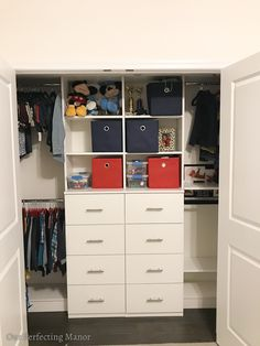 Easy Inexpensive Ways to Organize a Boy's Closet | Our Perfecting Manor