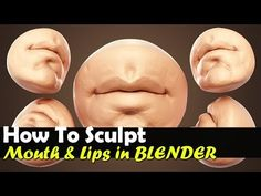 How To Sculpt The Mouth In Blender - Real Time Tutorial - YouTube