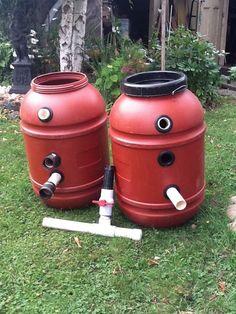 Diy 55 gallon barrel pond filter aquaponics filter for Koi pond pool filter