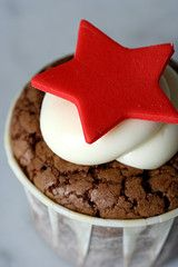 Cherry Chocolate Cupcakes with  Cream Cheese Frosting
