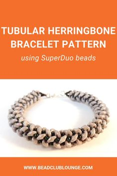 Superduo Bracelet Patterns - Tubular Herringbone Tutorial - Beaded Bracelet Patterns - Beading Tutorials and Patterns - Beadweaving Tutorial Beaded Bracelet Patterns, Jewelry Patterns, Beaded Earrings, Beaded Jewelry, Beaded Bracelets, Beading Patterns, Jewelry Findings, Handmade Jewelry, Beads Pictures