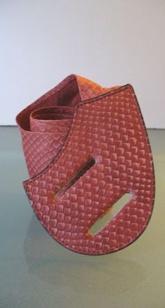 Vintage Daniel Victor Body&Soul Leather Faux Snake Skin Belt by TheOldBagOnline on Etsy