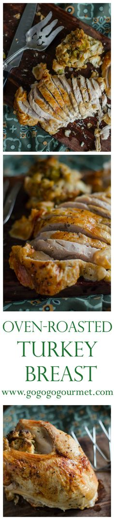 Its time to start talking TURKEY! This is great for a small Thanksgiving get-together or a weeknight meal with bonus leftovers! Oven Roasted Turkey Breast | Go Go Go Gourmet @gogogogourmet