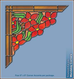 Stained Glass Border and Corner Decals