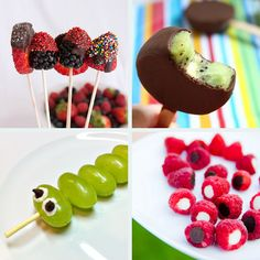 Getting kids to eat: fun fruits on a stick