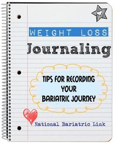 How to do a weight loss journal after bariatric surgery. Lap band, gastric bypass and gastric sleeve.