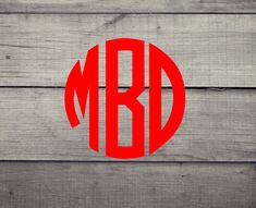 Round Monogram Decal **SALE** - Yeti, Cellphones, Auto, Laptop and MORE #Oracal #Traditional