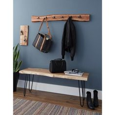Hairpin Natural Live Edge Wood and Metal Bench, Brown in 2020 Live Edge Tisch, Live Edge Table, Live Edge Wood, Live Edge Furniture, Pallet Furniture, Pallet Beds, Furniture Vintage, Cheap Furniture, Luxury Furniture