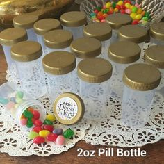 20 JARS 2oz 60ml Plastic Pill Bottle Container Gold Caps Favor #4314 DecoJars US #DecoJars