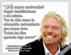 Richard Branson, magnate de negocios inglés.