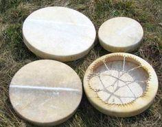 ŠAMANSKÉ BUBNY :: Frame Drum, Large Frames, Pow Wow, Deer Skin, Percussion, Drums, Handmade, Hand Made, Large Picture Frames
