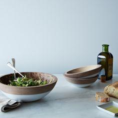 Hand-Dipped Walnut Wood Bowl (10 Inch)