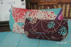 Grab and go clutches, PDF pattern, $5.50