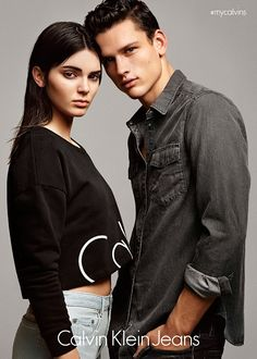 Partner in crime: In addition to her solo shots, Kendall can also be seen posing alongside a male model