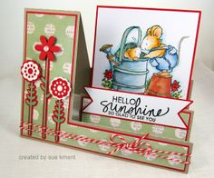 Sue's Stamping Stuff: Hello Sunshine---A Penny Black Stairstep card