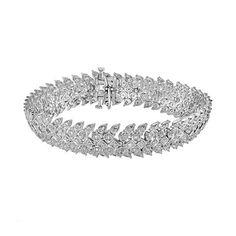 Sterling Silver 1-ct. T.W. Diamond Bracelet