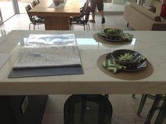 Calacatta Carrara - marble kitchen island.