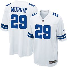 #29 Nike Game DeMarco Murray Men's Jersey - NFL Dallas Cowboys Road White