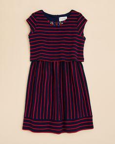 US Angels Girls' Stripe Popover Dress - Sizes 7-16 | Bloomingdale's