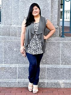 42 plus-size outfits we love-A chic cardigan is always a  wardrobe essential.