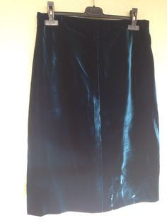 Vintage 60s silk velvet petrol blue green size medium by Myfamilytreasure on Etsy