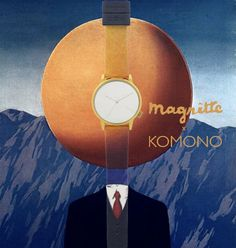 @Komono tips its hat to #Magritte and his contribution to the #surrealism movement of the 20th century. #TheArtofLiving features the #Winston watch with an unmarked mirror dial. #unique #watch #art #komono #sportique #sportiquesf