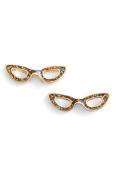 kate spade glitter eyeglass stud earrings