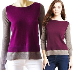 MALIKA 100% CASHMERE Cardigan Sweater Short Sleeve V-Neck Pockets ...