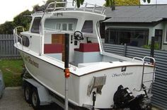 Hartley boat plans 'Flareline 20' power boat Cabin Cruiser, Diy Boat, Power Boats, Boat Plans, Boat Building, How To Plan, Shops, Tents, Motor Boats