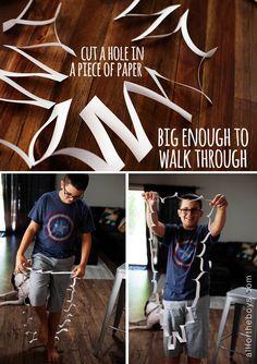 Quick trick: Walk through a piece of paper