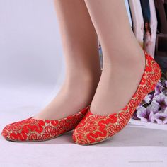 Bridal Flats Fashion Lower Heels Bridal Shoes 2013 New Arrivals WS0595