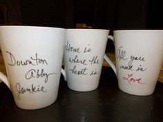 DOWNTON ABBY MUG.White Coffee Mug. Unique Quotes. VALENTINE GIFT. Downton Abby., via Etsy.