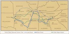 Cherokee Trail of Tears Map Native American Indian Cherokee Nation Oklahoma Results Trail of Tears Indian Removal Forced March Maps Cherokee Indian Died Total Indians Death Americans killed Georgia Cherokees, Cherokee Nation, Cherokee Indians, Choctaw Nation, Digital History, Kansas Missouri, Oklahoma, Trail Of Tears, National History