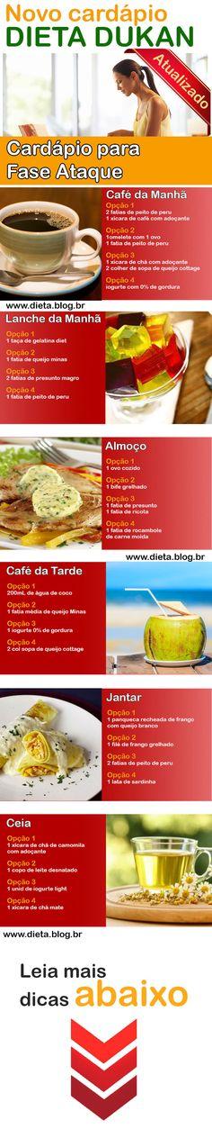 Novo Cardápio da Dieta Dukan para a Fase de Ataque